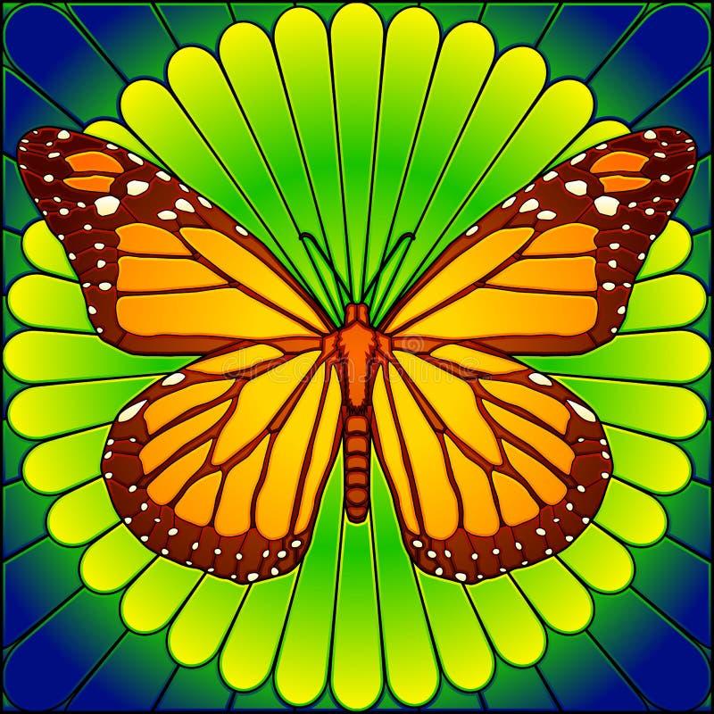 Monarca do vidro manchado ilustração do vetor