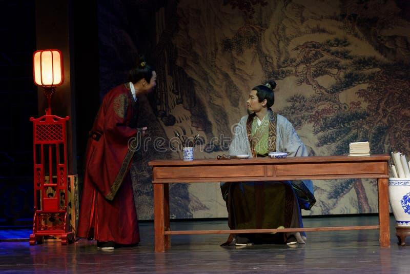 Monarca y ministro- en segundo lugar acto: la noche del drama histórico ejército-grande, ` Yangming ` de tres noches imágenes de archivo libres de regalías