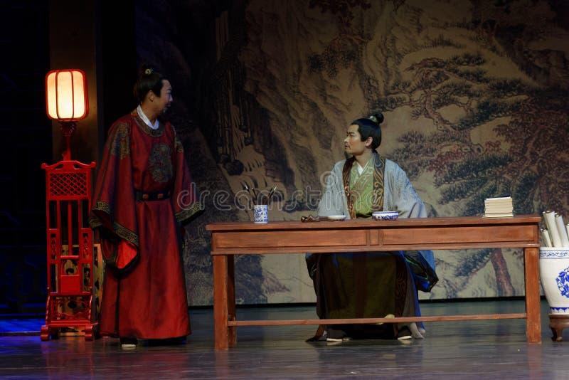 Monarca y ministro- en segundo lugar acto: la noche del drama histórico ejército-grande, ` Yangming ` de tres noches fotos de archivo