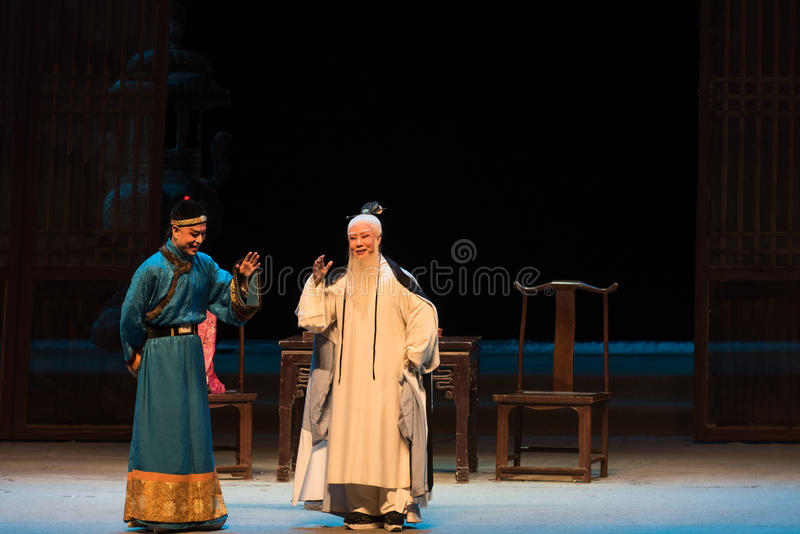 "Between the monarch and his subjects-Shanxi Operatic""Fu Shan to Beijing"". Fu Shan Beijing reflects the Fu Shan in Beijing, to be a true story of the royalty free stock image"