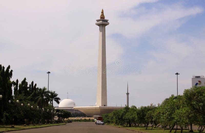 Monas,独立报广场,雅加达,印度尼西亚 免版税库存图片
