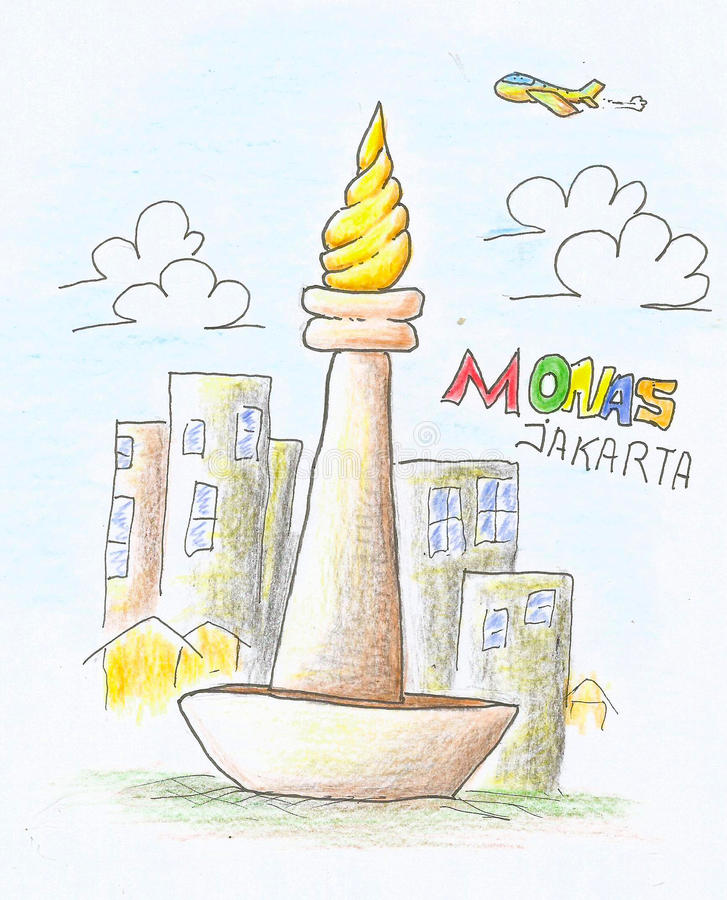 Download Monas Color Pencil Draw Stock Illustration Of Abstract