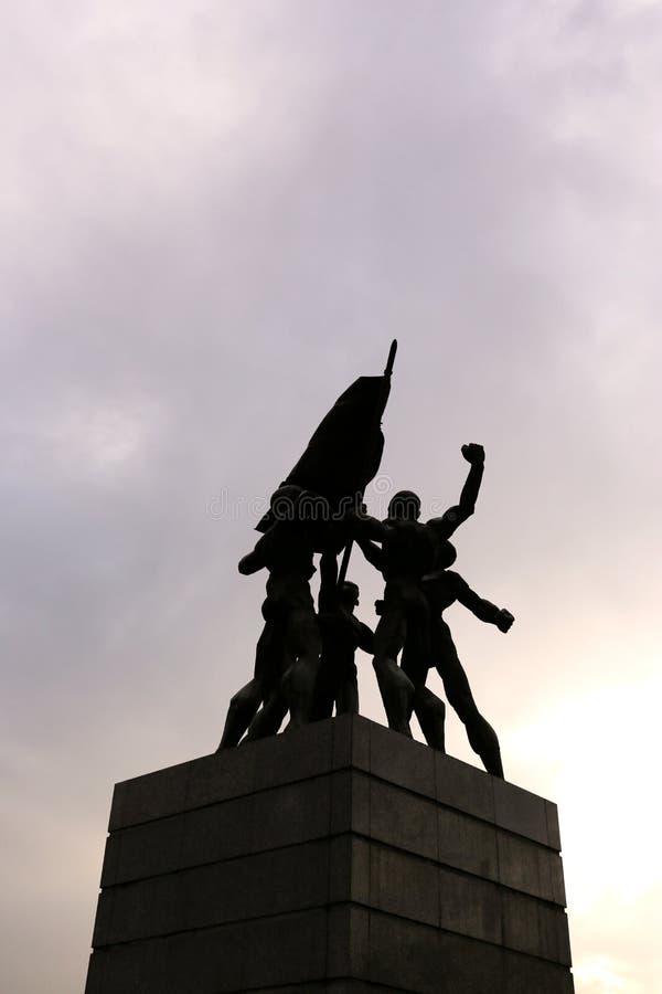 Monas, marco de Jakarta Cit, Indonésia fotografia de stock