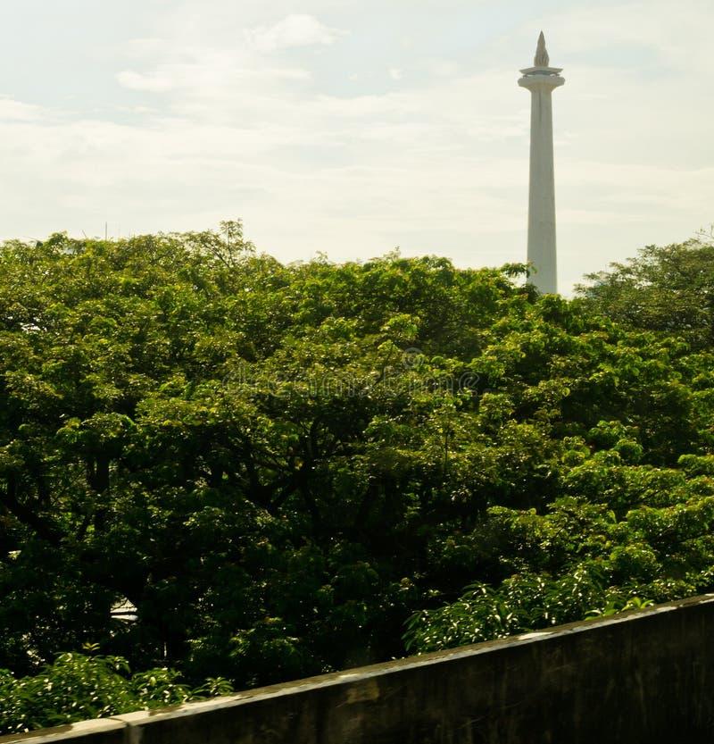 Monas/nationell monument, Jakarta arkivfoton