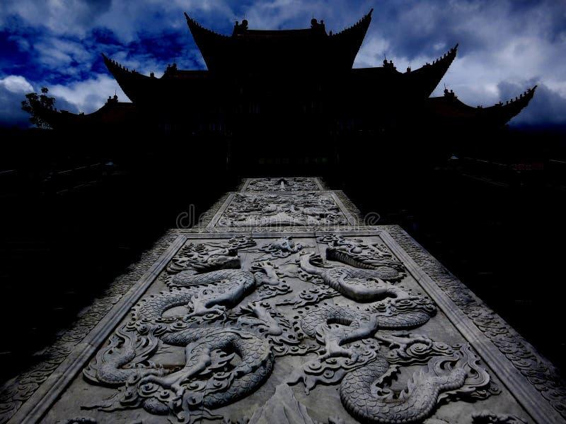Monastère énigmatique près de Dali, Yunnan images libres de droits