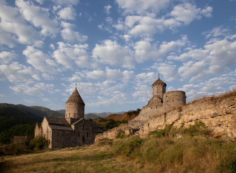 Monastère antique de Tatev en Arménie photographie stock libre de droits