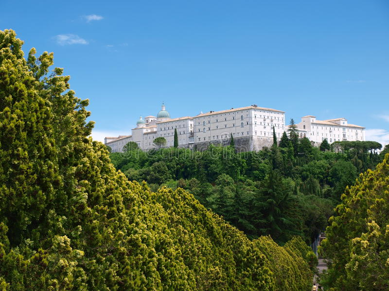 Monastère bénédictin, Monte Cassino, Italie image libre de droits