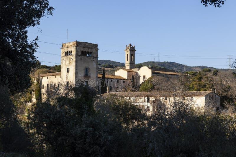 Monastère, Badalona, Espagne image libre de droits