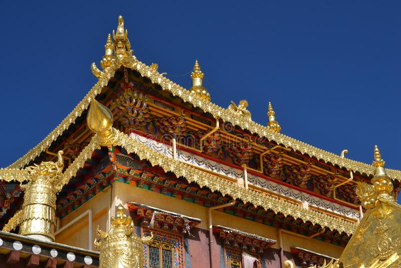 Monastère bouddhiste tibétain de Songzanlin, La de Shangri, Xianggelila, province de Yunnan, Chine photo stock