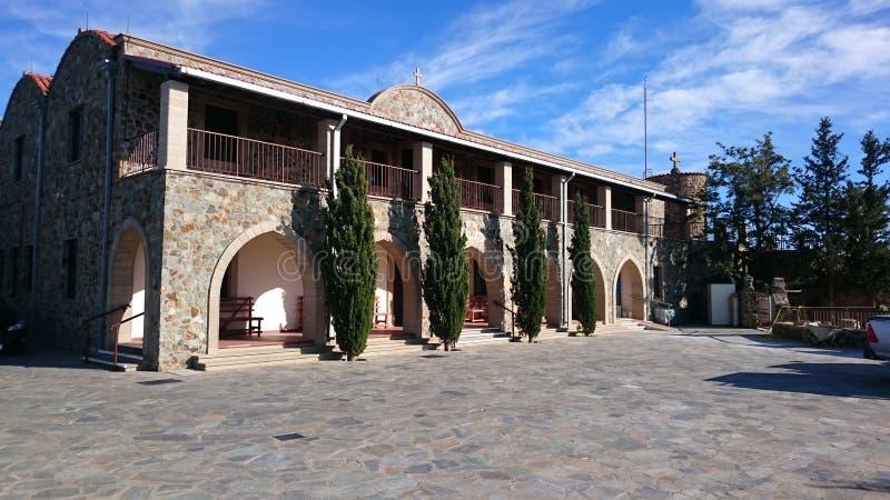 Monastère Chypre de Stavrovouni photo libre de droits