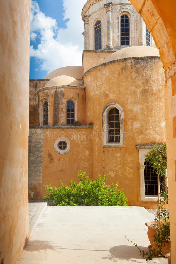 Monastère d'Agia Triada. La Grèce. Crète. 3 image stock