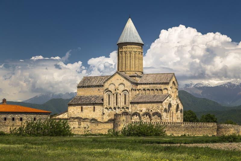 Monastère d'Alaverdi dans la région de Kakheti de la Géorgie orientale image stock