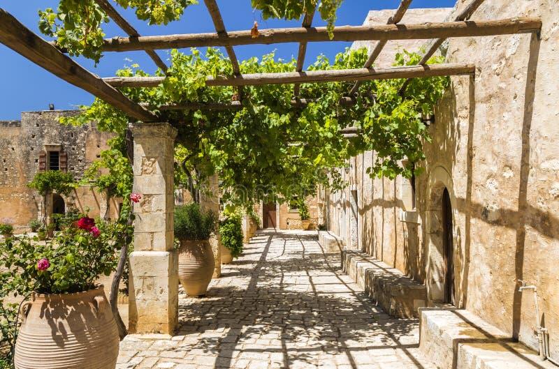 Monastère d'Arkadi, Crète photo stock