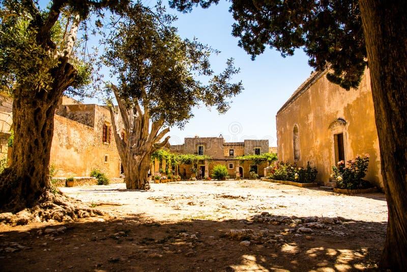 Monastère d'Arkadi, Creta, Grèce images libres de droits