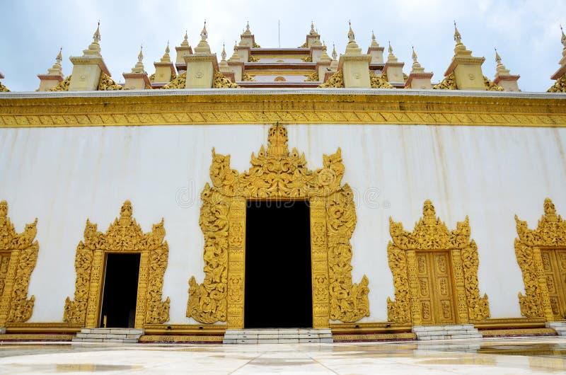 Monastère d'Atumashi Kyaung à Mandalay, Myanmar (Birmanie) images stock