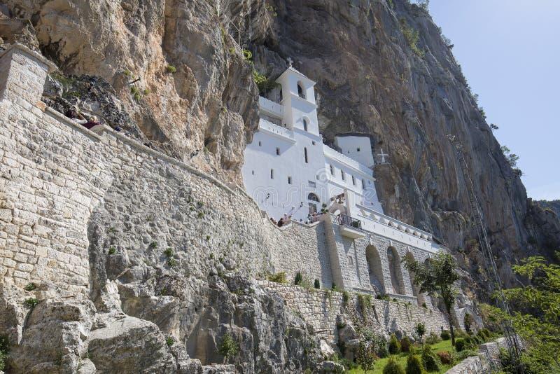 Monastère d'Ostrog dans Monténégro - St Vasilije Ostroski, église supérieure image libre de droits