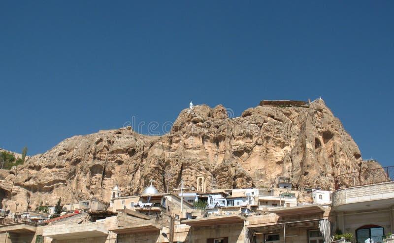 Monastère dans Maalula images libres de droits