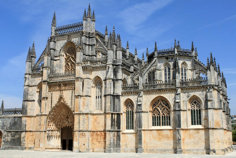Monastère de Batalha image libre de droits