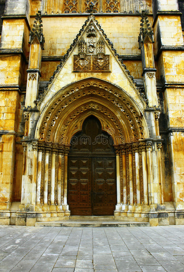 Monastère de Batalha, Batalha, Portugal images libres de droits