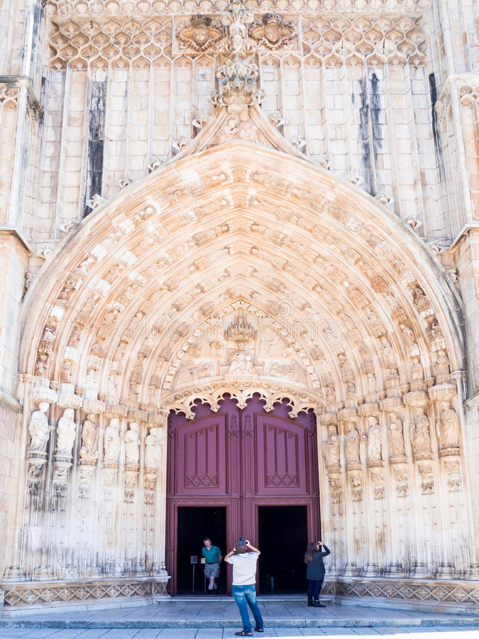 Monastère de Batalha dans Batalha, Portugal image libre de droits