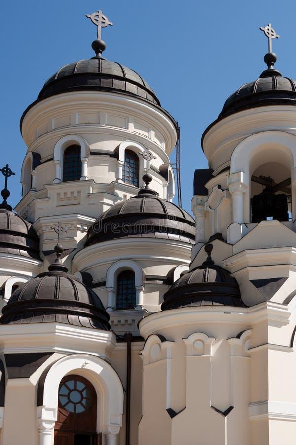 Monastère de Capriana, l'église de l'hiver photographie stock libre de droits