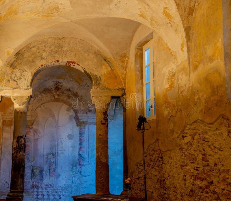 Monastère de carmin à Bergame images libres de droits