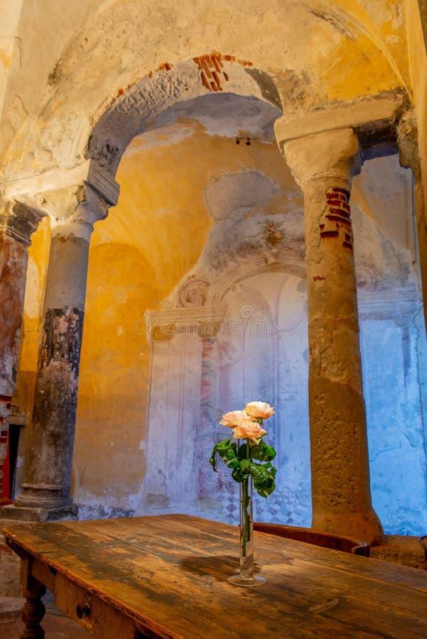 Monastère de carmin à Bergame photo stock
