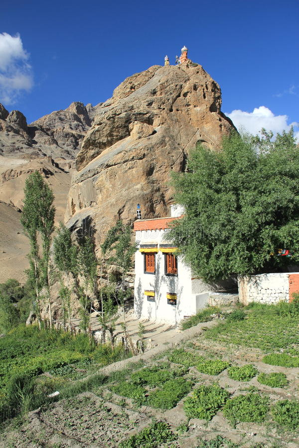 Monastère de Chamba dans Mulbekh photo stock