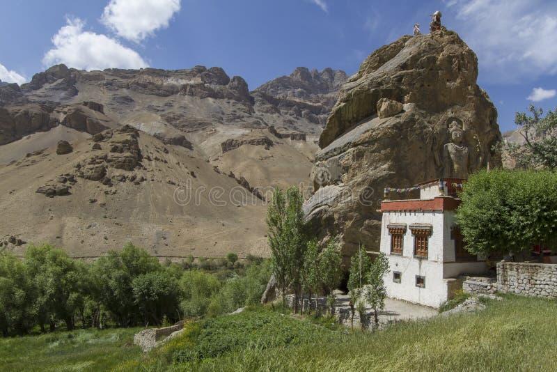 Monastère de Chamba dans Mulbekh, Ladakh images libres de droits