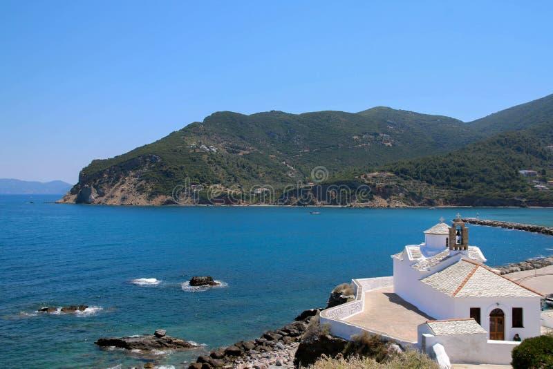 Monastère de ` de Skopelos photo stock