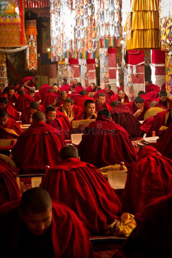 Monastère De Drepung étudiant Des Moines Lhasa Tibet Photo stock éditorial  - Image du moine, scripture: 47678158