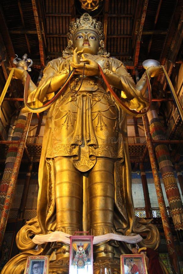 Monastère de Gandan à l'intérieur de temple principal photo stock