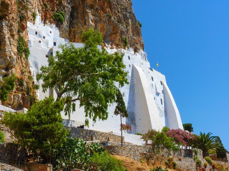 Download Monastère de Hozoviotissa photo stock. Image du couleur - 56487924