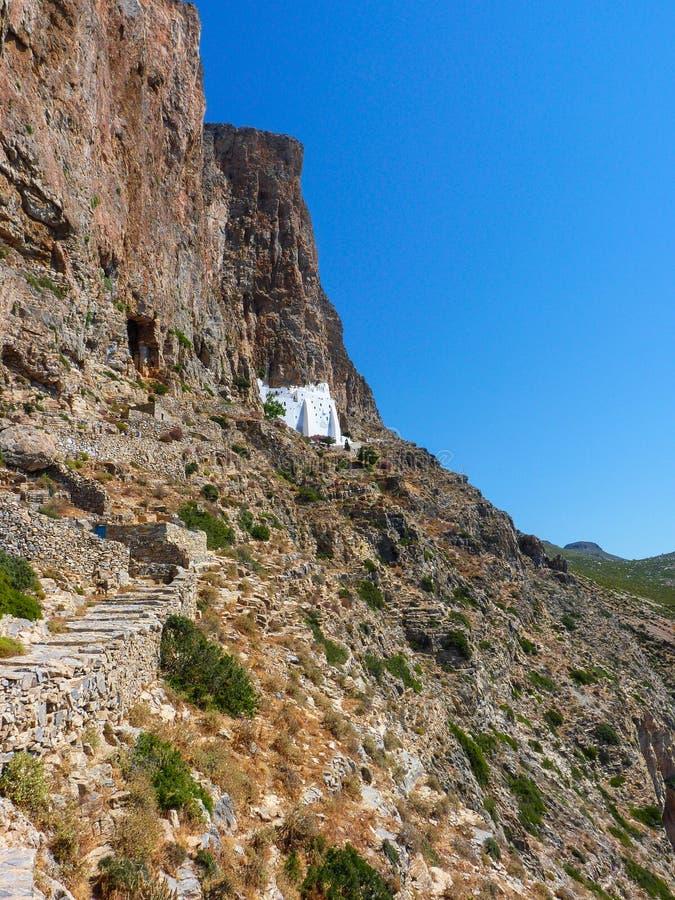 Download Monastère de Hozoviotissa photo stock. Image du greece - 56488042