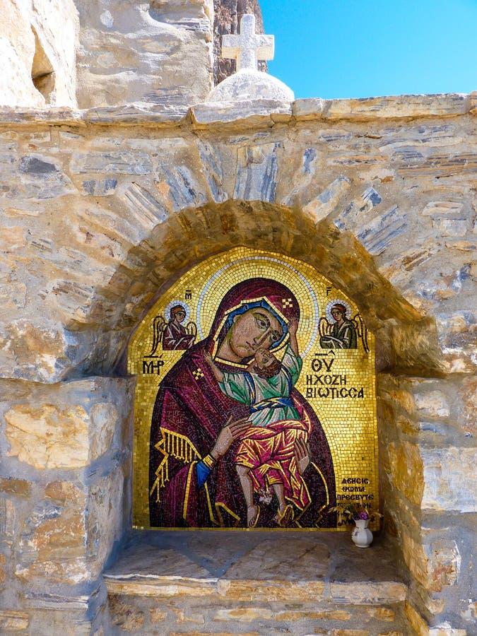Download Monastère de Hozoviotissa image stock. Image du beau - 56488845