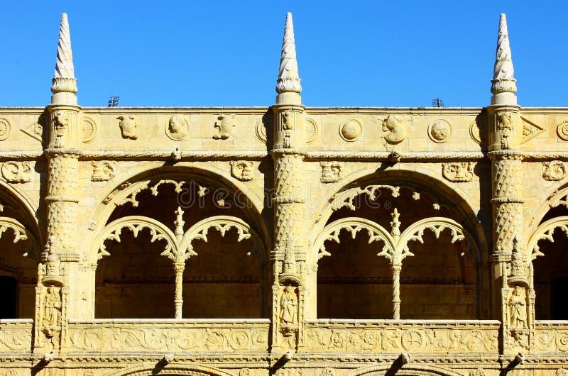 Monastère de Jeronimos, Lisbonne, Portugal image stock
