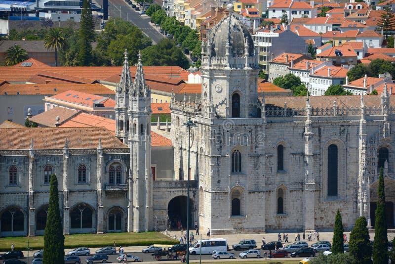 Monastère de Jeronimos, Lisbonne, Portugal image libre de droits
