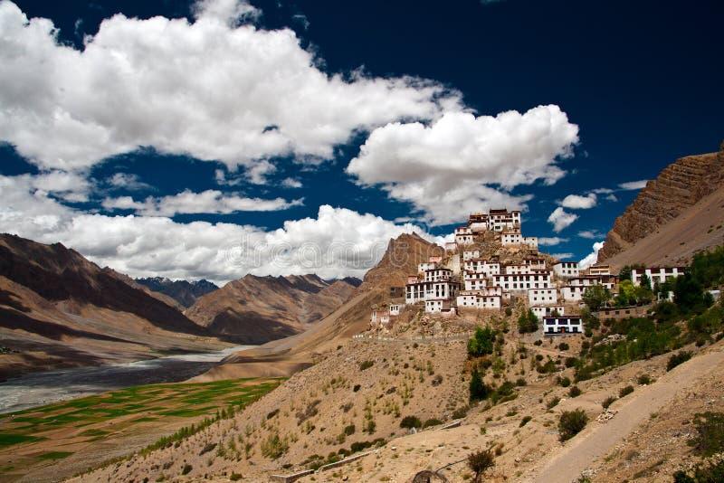 Monastère de Kee en vallée de Spiti photos stock