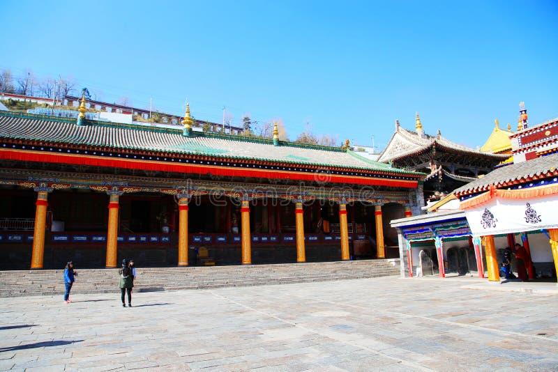 Monastère de Kumbum, taersi, dans le Qinghai, la Chine image libre de droits