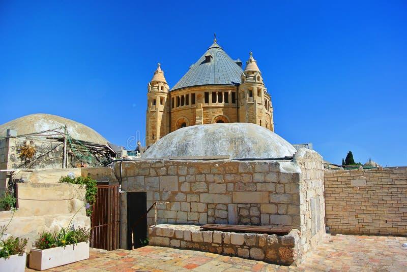 Monastère de l'acceptation de la Vierge bénie L'abbaye catholique allemande près des portes de Zion, Jérusalem l'israel photos stock