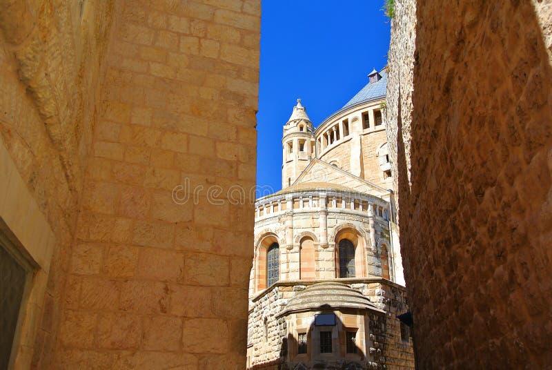 Monastère de l'acceptation de la Vierge bénie L'abbaye catholique allemande près des portes de Zion, Jérusalem l'israel image libre de droits