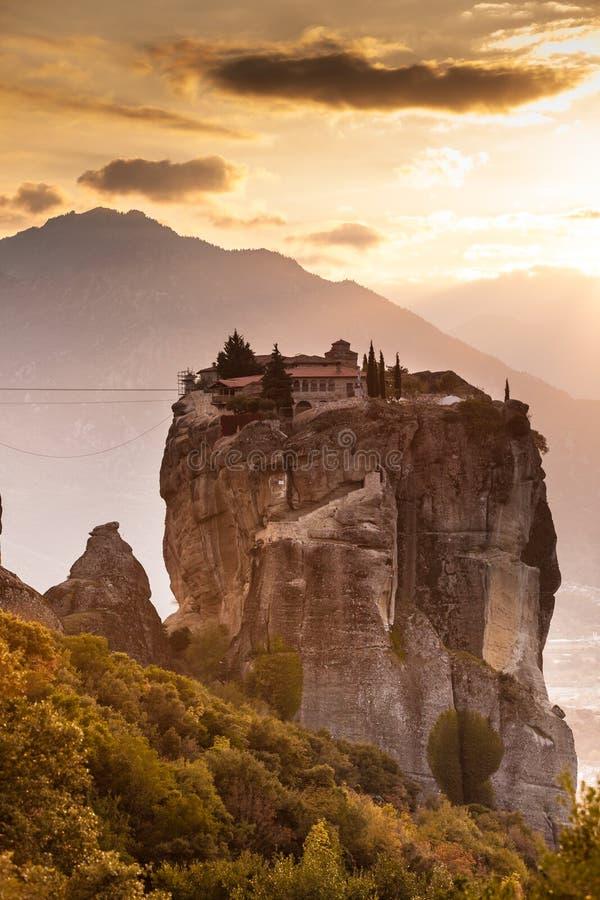Monastère de la trinité sainte i dans Meteora, Grèce image stock