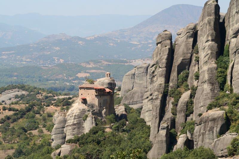 Monastère de météore en Grèce image libre de droits