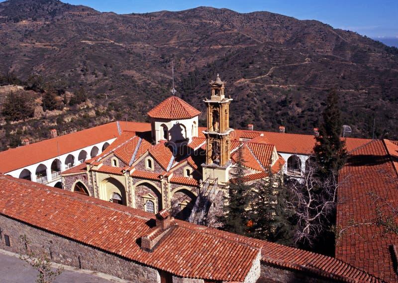 Monastère de Machairas, montagnes de Troodos, Chypre. photographie stock