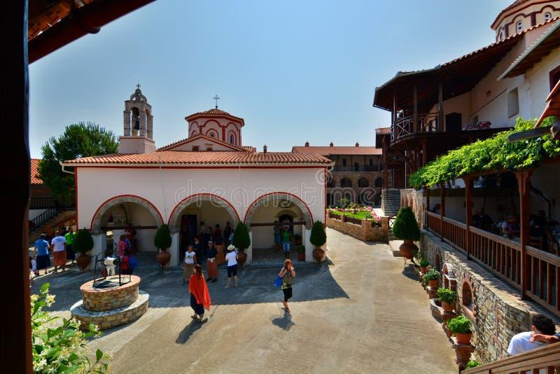 Monastère de Megali Panagia Île de Samos La Grèce images stock