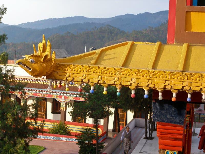 Monastère de Menri dans Dolangi, Inde images stock