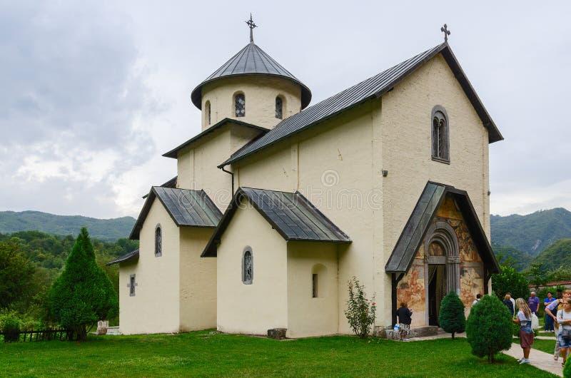 Monastère de Moraca, église de l'acceptation de notre Madame, Monteneg photo libre de droits