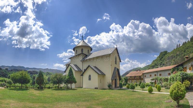 Monastère de Moraca dans Monténégro photos libres de droits