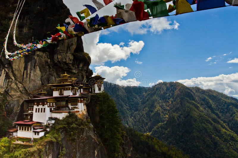 Monastère de 'nid de tigres' de Taktsang de Paro, Paro, Bhutan photo libre de droits