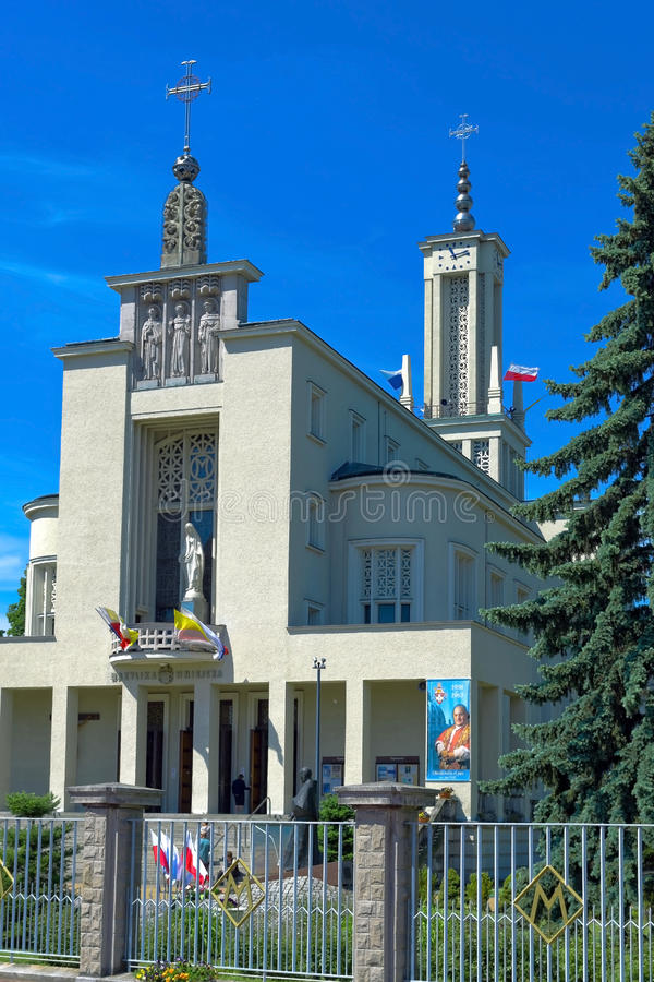 Monastère de Niepokalanow images libres de droits
